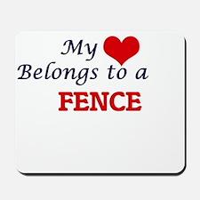 My heart belongs to a Fence Mousepad