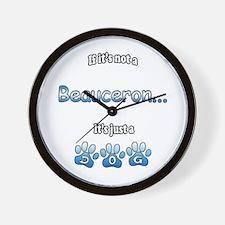 Beauceron Not Wall Clock