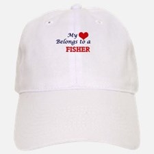 My heart belongs to a Fisher Baseball Baseball Cap