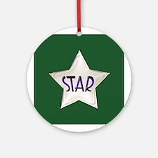 Vintage Deco Star Design Ornament (Round)