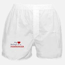 My heart belongs to a Fishmonger Boxer Shorts