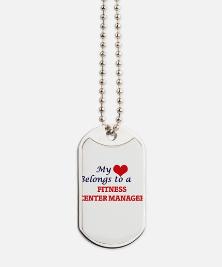 My heart belongs to a Fitness Center Mana Dog Tags