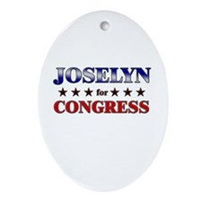 JOSELYN for congress Oval Ornament