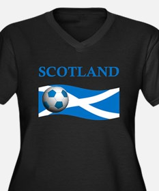 TEAM SCOTLAND Women's Plus Size V-Neck Dark T-Shir