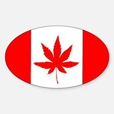 CANADA SATIVA FLAG__ Decal