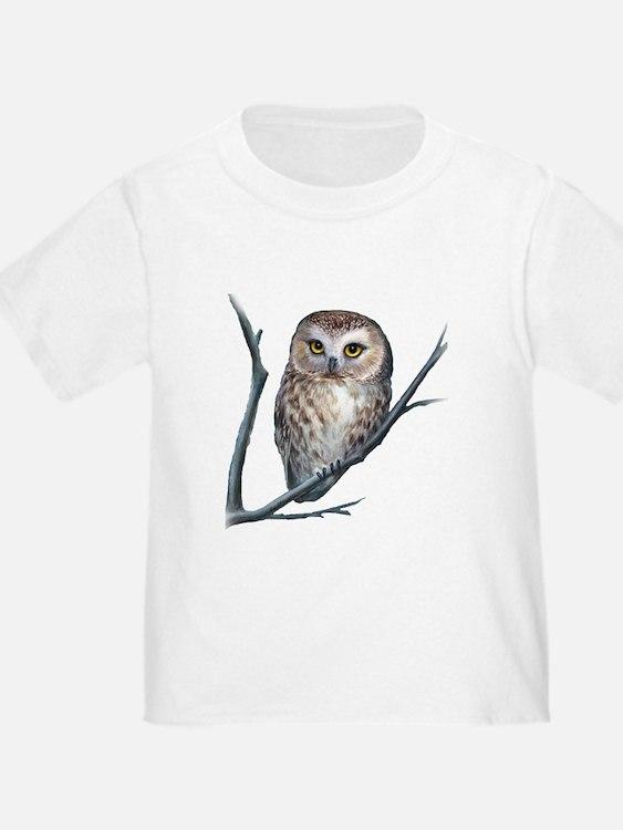 saw-whet owl dark shirt T-Shirt