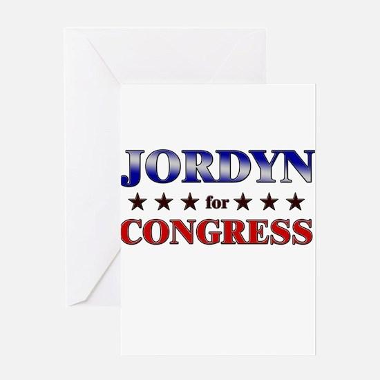 JORDYN for congress Greeting Card