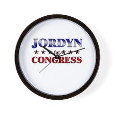 JORDYN for congress Wall Clock