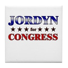 JORDYN for congress Tile Coaster