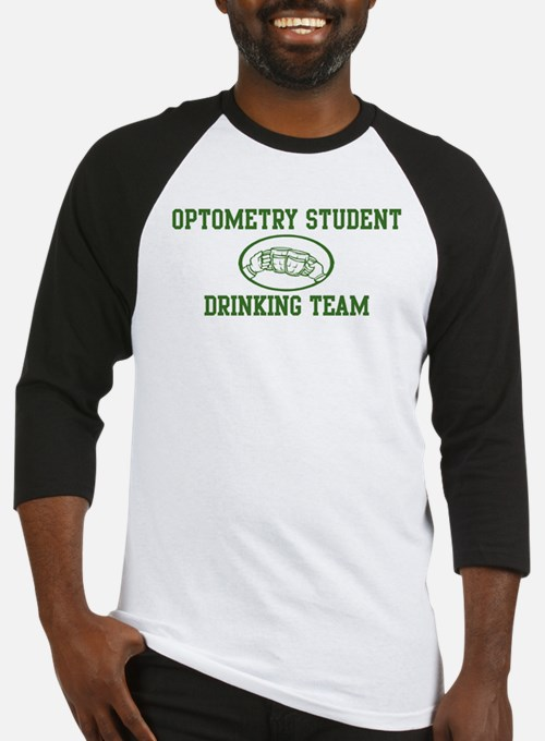 Optometry Student Drinking Te Baseball Jersey