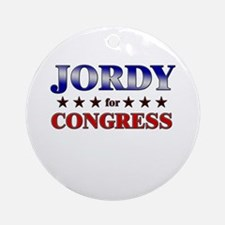 JORDY for congress Ornament (Round)