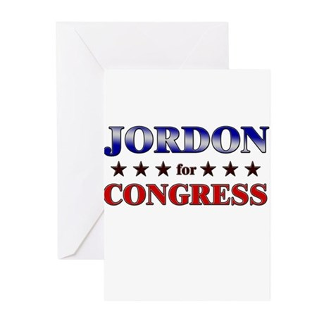 JORDON for congress Greeting Cards (Pk of 10)