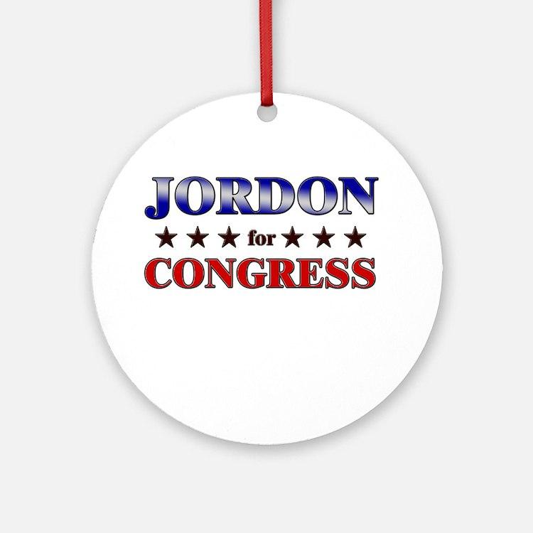 JORDON for congress Ornament (Round)