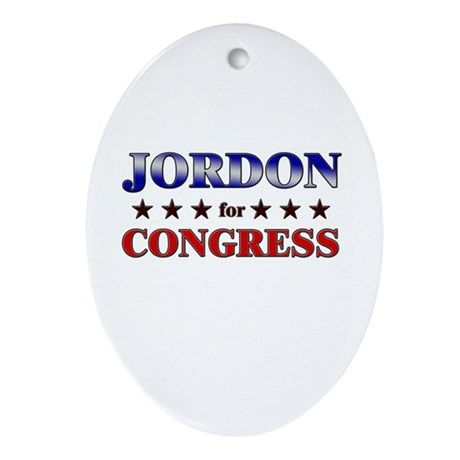 JORDON for congress Oval Ornament