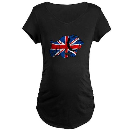 British Bulldog Union Jack Maternity Dark T-Shirt