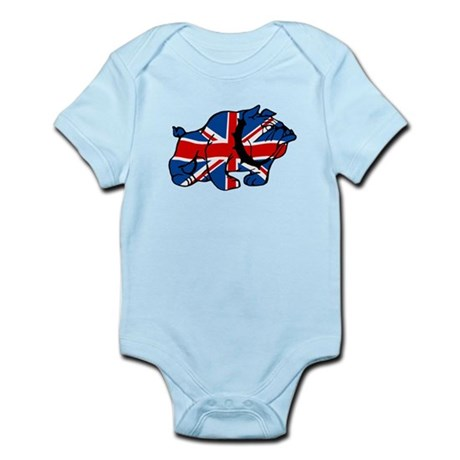 British Bulldog Union Jack Infant Bodysuit
