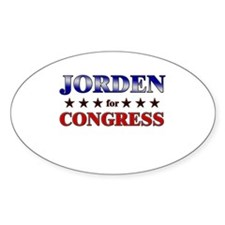 JORDEN for congress Oval Decal
