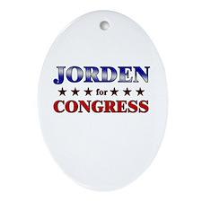 JORDEN for congress Oval Ornament