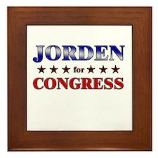 JORDEN for congress Framed Tile