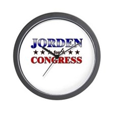 JORDEN for congress Wall Clock