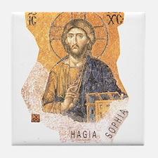 Jesus Hagia Sophia Tile Coaster