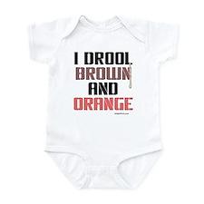 BROWN AND ORANGE (Clev) Infant Bodysuit