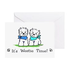 Funny Westie drawings Greeting Card