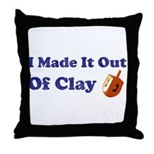 Dreidel Out Of Clay Throw Pillow