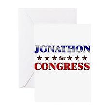 JONATHON for congress Greeting Card