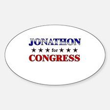 JONATHON for congress Oval Decal