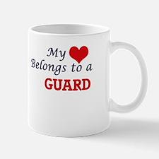 My heart belongs to a Guard Mugs