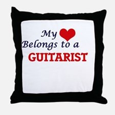 My heart belongs to a Guitarist Throw Pillow