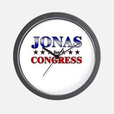 JONAS for congress Wall Clock