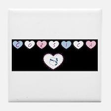 heart corsica1 Tile Coaster