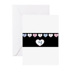 heart corsica1 Greeting Cards (Pk of 10)