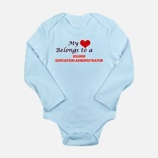 My heart belongs to a Higher Education A Body Suit