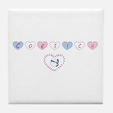 heart corsica3 Tile Coaster