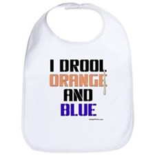 ORANGE AND BLUE (Den) Bib