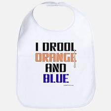 ORANGE AND BLUE (Den) Bib