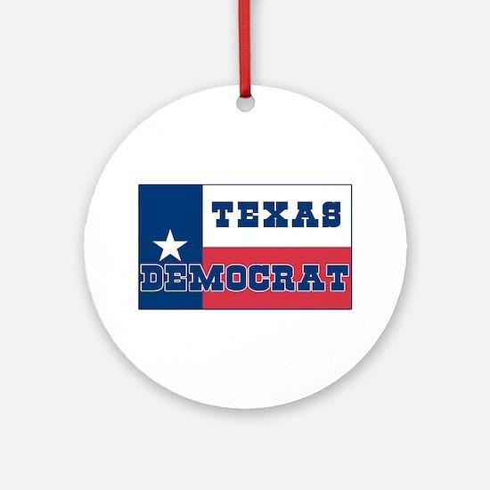 Texas Democrat Ornament (Round)