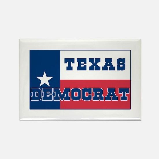 Proud Texas Democrat Rectangle Magnet
