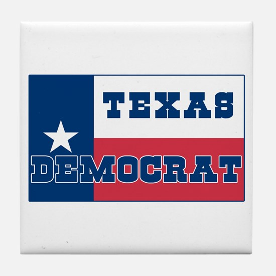 Texas Democrat Tile Coaster
