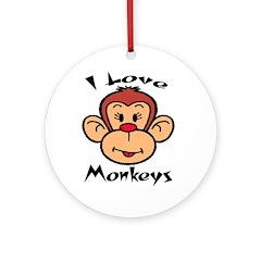 I love monkeys Keepsake (Round)