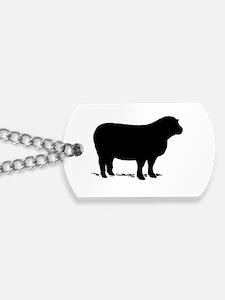 Cute Black sheep Dog Tags