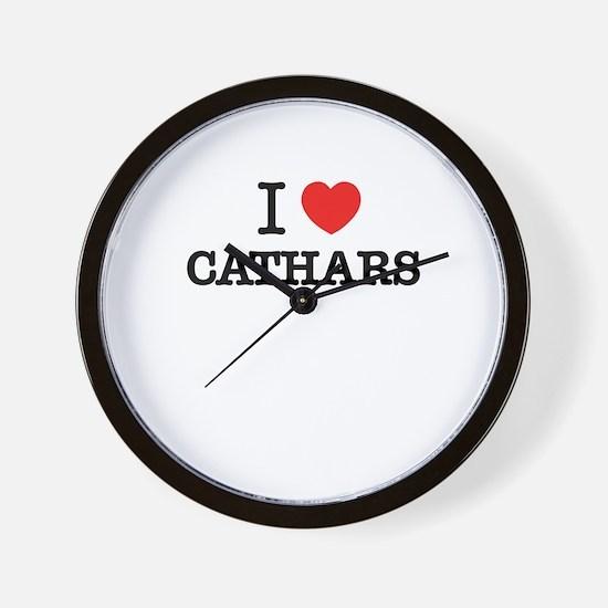 I Love CATHARS Wall Clock