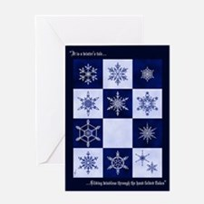 Cut-Paper Snowflake Greeting Card