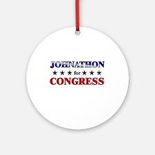 JOHNATHON for congress Ornament (Round)