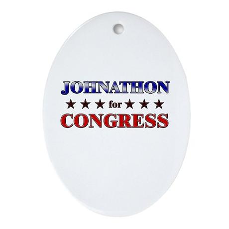 JOHNATHON for congress Oval Ornament