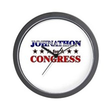 JOHNATHON for congress Wall Clock