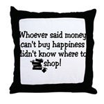 Money Happiness Throw Pillow